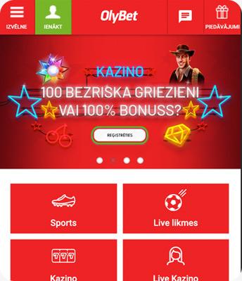 olybet kazino ekrānuzņēmums