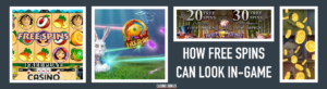 free spins in game