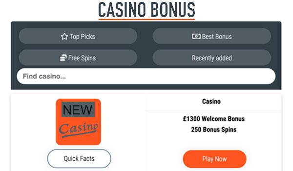 New Casino UK Step 1