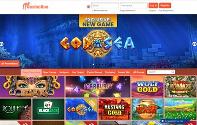 casinoroo casino screenshot